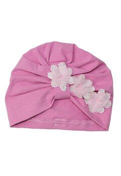 Turban, roz cu trei floricele