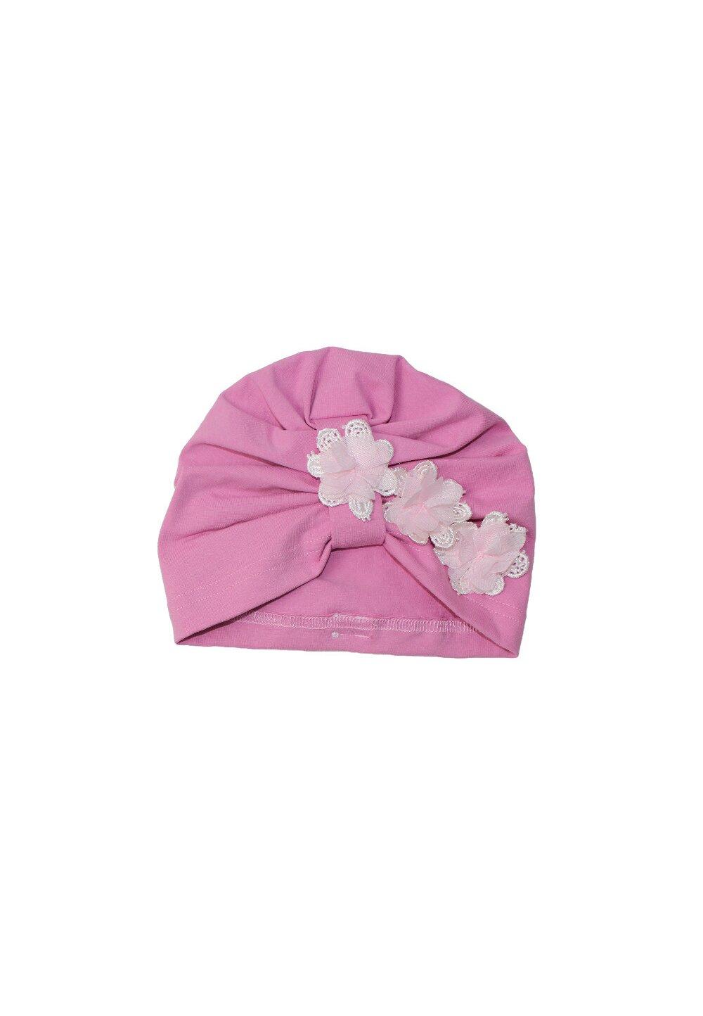 Turban, roz cu trei floricele imagine