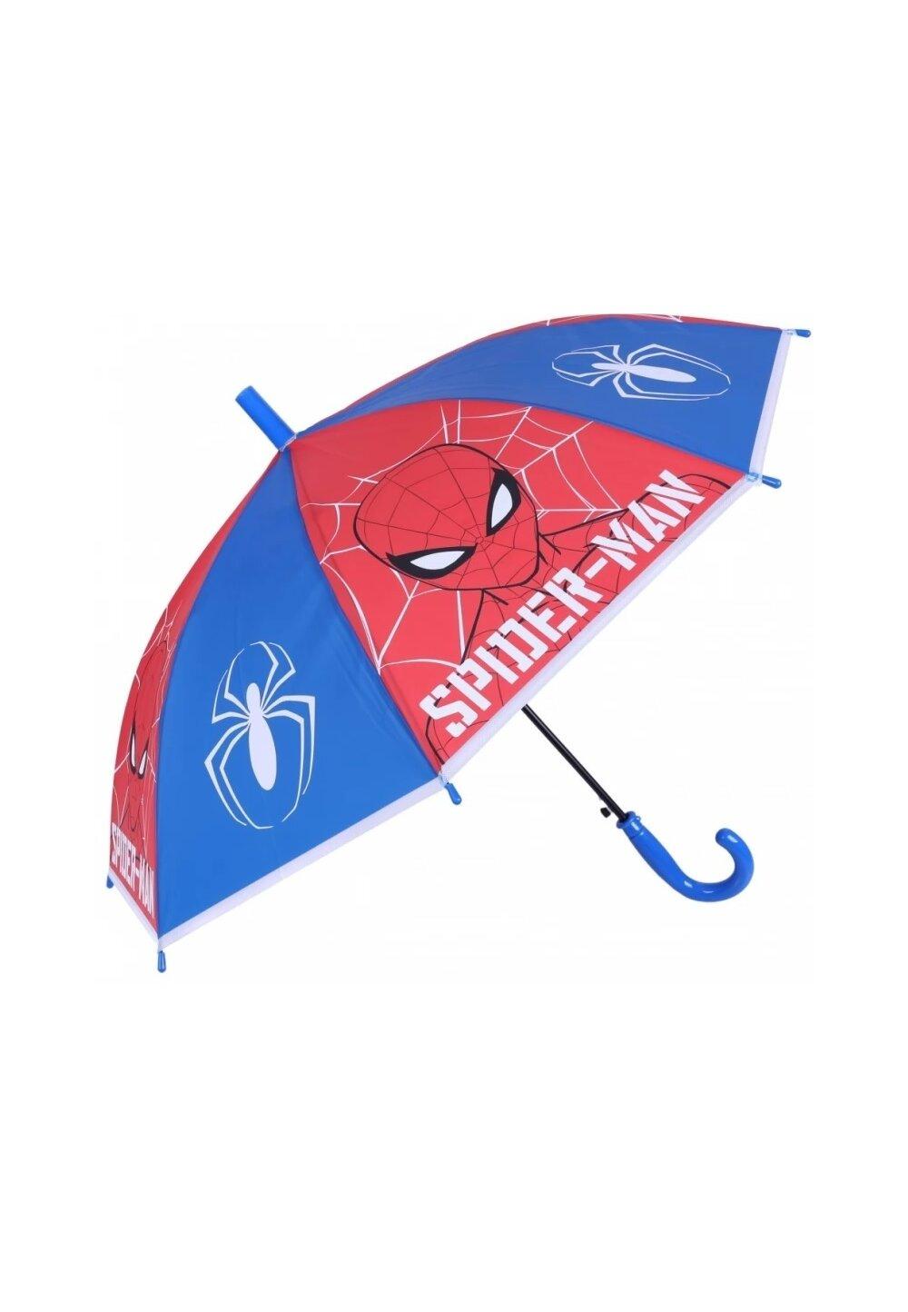 Umbrela baieti, Spider Man, rosu cu albastru imagine