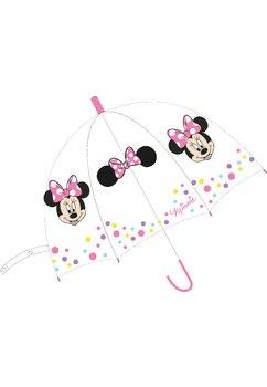 Umbrela fete, Minnie Mouse, transparenta cu buline