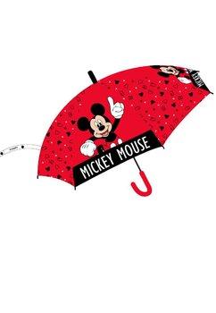 Umbrela, Mikey Mouse, rosie cu figurine