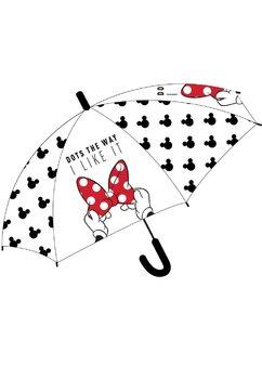 Umbrela, Minnie Mouse, transparenta cu fundita