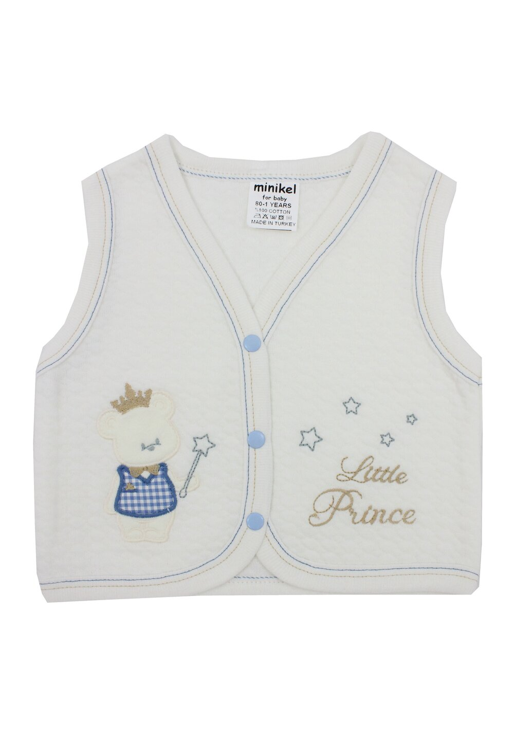 Vesta bumbac, Little Prince, ivory