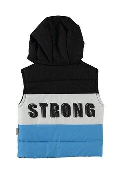 Vesta cu gluga, Strong, negru cu albastru deschis