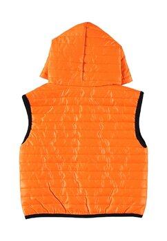 Vesta fete cu gluga, Boni, portocaliu neon