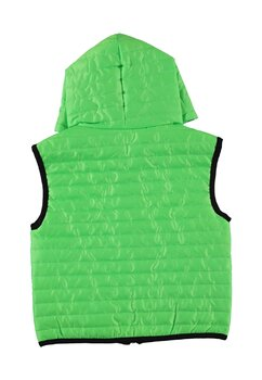 Vesta fete cu gluga, Boni, verde neon