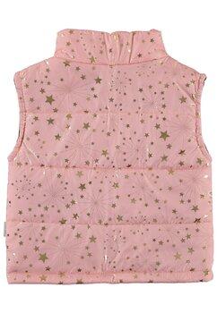 Vesta fete, roz cu stele aurii