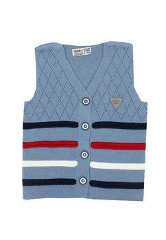 Vesta tricotata, Gogo, albastra cu dungi