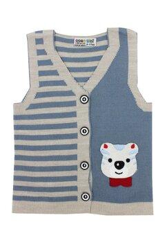 Vesta tricotata, Gogo, albastra cu ursulet