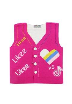 Vesta tricotata, Likee, roz inchis