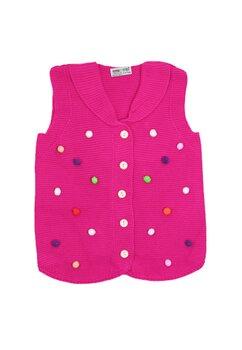 Vesta tricotata, roz cu buline colorate