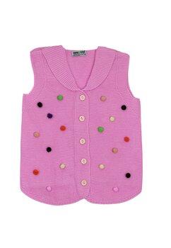 Vesta tricotata, roz deschis cu buline colorate