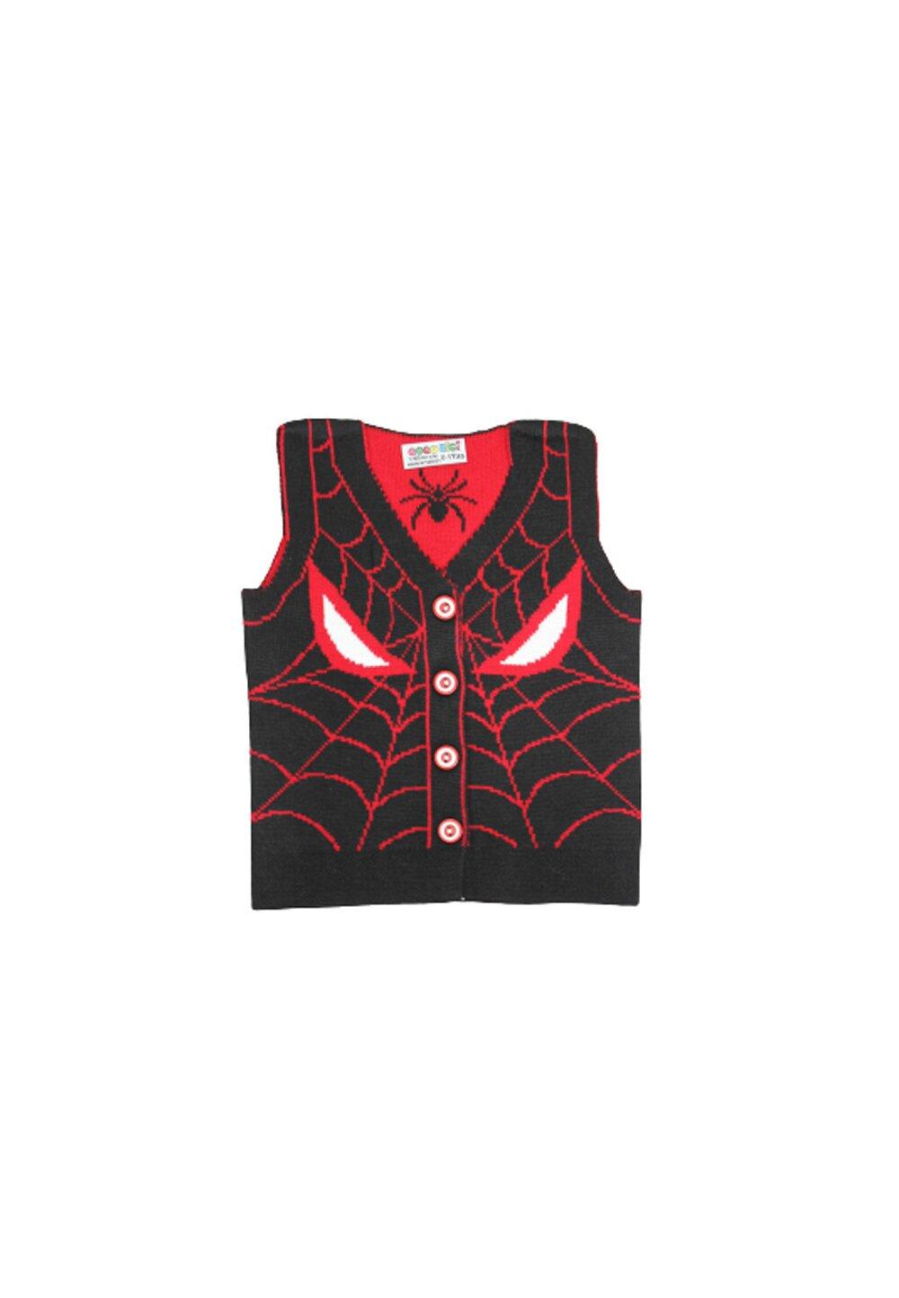 Vesta tricotata, Spider Man, negru cu rosu
