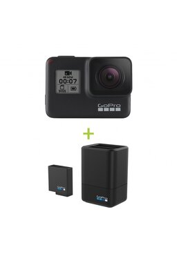 GoPro HERO7 Black + Dual Battery Charger + Battery
