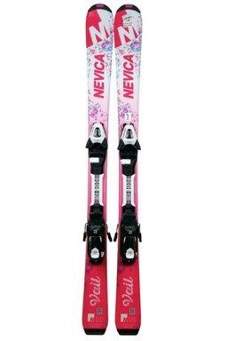 Ski Nevica Vail 4.5 White/Pink + Legaturi Salomon