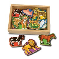 Animale de lemn cu magneti Melissa and Doug