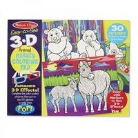 Caiet de colorat 3D Animale