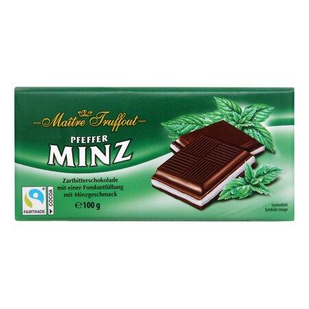 Ciocolata cu crema de menta Maitre Truffout 100gr