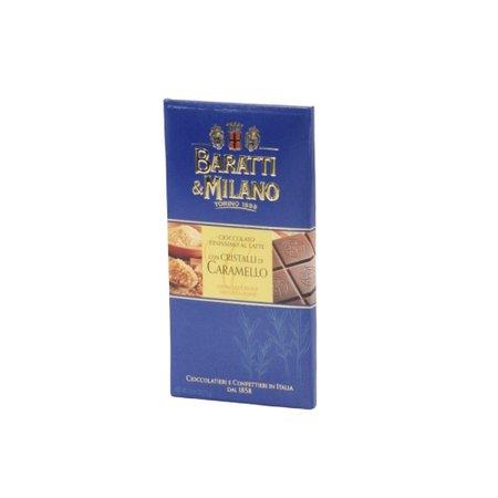 Ciocolata cu lapte si cristale de caramel Baratti e Milano