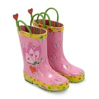 Cizme de ploaie pentru copii Bella Butterfly Melissa and Doug marime 29-31
