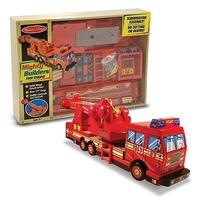 Construieste o masina de pompieri Melissa and Doug
