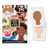 Creaza portrete Bloc de desen cu portrete predesenate Melissa and Doug