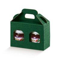 Cutii cadou pentru borcane Seta verde 170*80*90mm