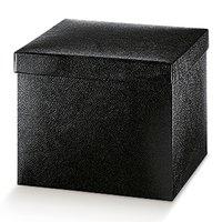 Cutii patrate cu capac mari Pelle nero 300*300*240mm
