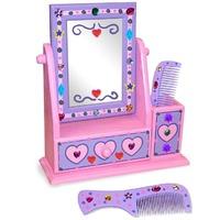 Decoreaza-ti propriul set din lemn cu oglinda Melissa and Doug