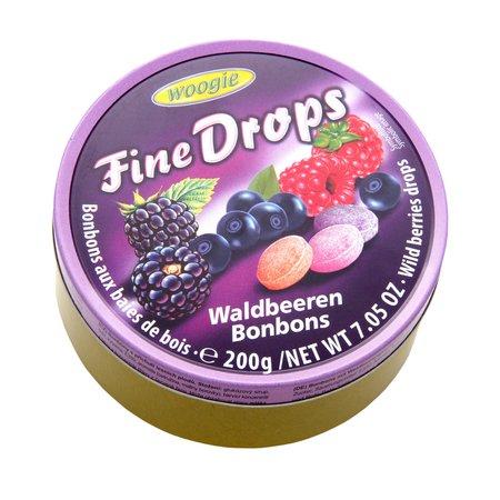 Dropsuri cu fructe de padure 200gr Woogie