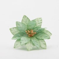Floare Craciun decor Verde 100mm