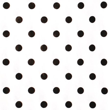 Hartie de matase Black Dots on White