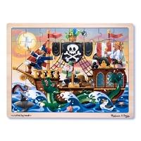 Melissa & Doug - Puzzle lemn Aventura Piratilor