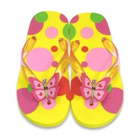 Papuci de baie sau plaja copii Bella Butterfly Melissa and Doug mas 26-28
