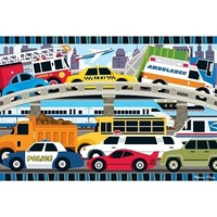 Puzzle de podea Blocaj in trafic Melissa and Doug