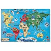 Puzzle de podea Harta Lumii World Map Melissa and Doug