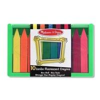 Set 10 creioane colorate groase trunghiulare in culori fluorescente Melissa and Doug