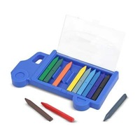 Set creioane colorate triunghiulare Truck Melissa and Doug 12 buc