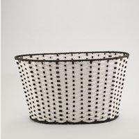 Tava ovala metalica alb-negru 540*375*230mm