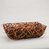 Tavita dreptunghiulara cu impletitura maro-portocaliu 490*350*150mm