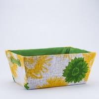 Tavita material textil flori Verde 360*260*160mm