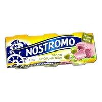 Ton in ulei de masline Nostromo 3*80gr