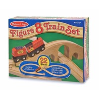 Tren lemn si Circuit 8 Melissa and Doug