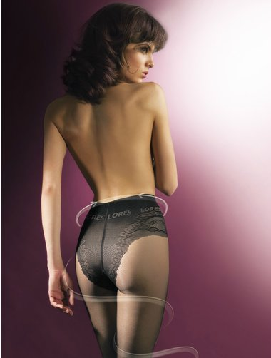 Ciorapi compresivi cu chilot decorat Lores Thin Body 20 den