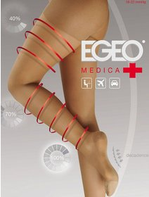 Ciorapi compresivi (18-22 mmHg) Egeo Medica 140 den