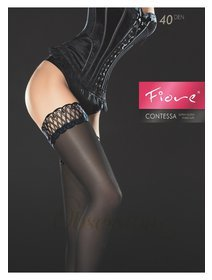 Ciorapi satinati cu banda adeziva Fiore Contessa 40 den