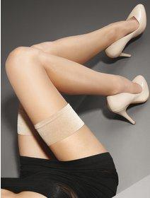 Ciorapi cu banda adeziva Marilyn Lux Line Make-up Hold-ups 10 den