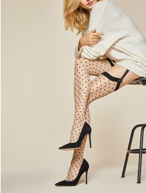 Ciorapi cu buline pentru portjartier Fiore Illusion 20 den