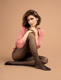 Ciorapi cu imprimeu discret Fiore Demoiselle 10 den