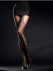 Ciorapi cu model animal print Fiore Hunt Me 30 den